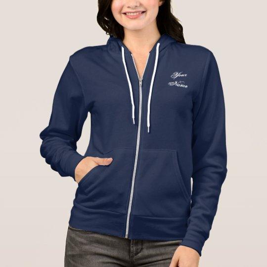 Make your Own Ladies Fleece Hoodie Zip Jacket