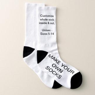 Make Your Own LARGE Custom Socks 1