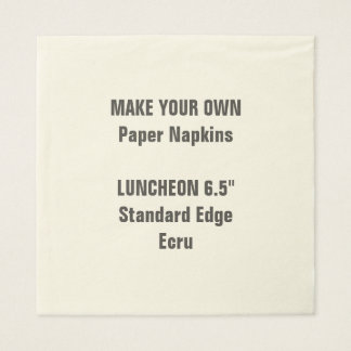 Make Your Own Large ECRU Luncheon Paper Napkins