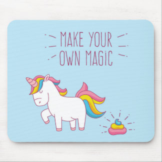 Make Your Own Magic Unicorn Poop Mousepad