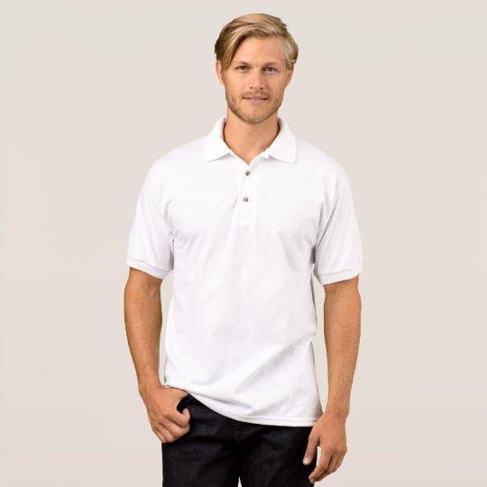 Men's Gildan Jersey Polo Shirt, White