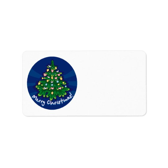 Make Your Own Merry Christmas  Mail Stickers Address Label