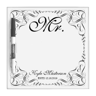 Make Your Own Mr Mrs His Hers Wedding Monogram Dry Erase Boards