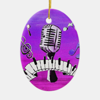 Make Your Own Music Ceramic Oval Decoration