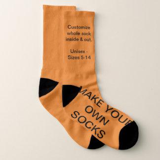 Make Your Own ORANGE Custom Socks 1