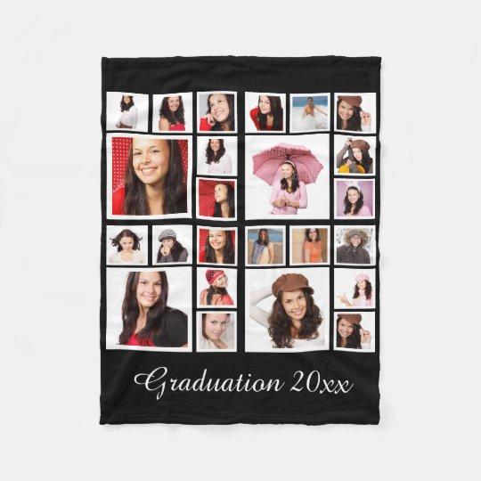 Make Your Own Personalised Graduation Fleece Blanket