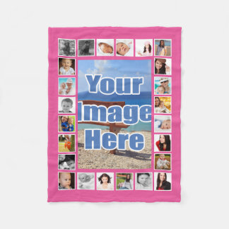 Make Your Own Personalized 25 Photo DIY Custom Fleece Blanket