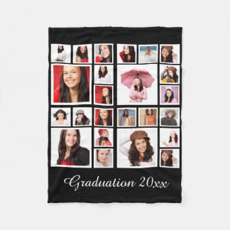 Make Your Own Personalized Graduation Fleece Blanket