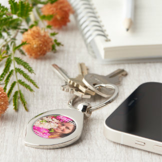 Make Your Own Personalized Silver-Colored Swirl Key Ring