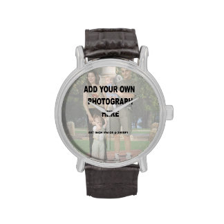 Make your own Personalized photo wrist watches