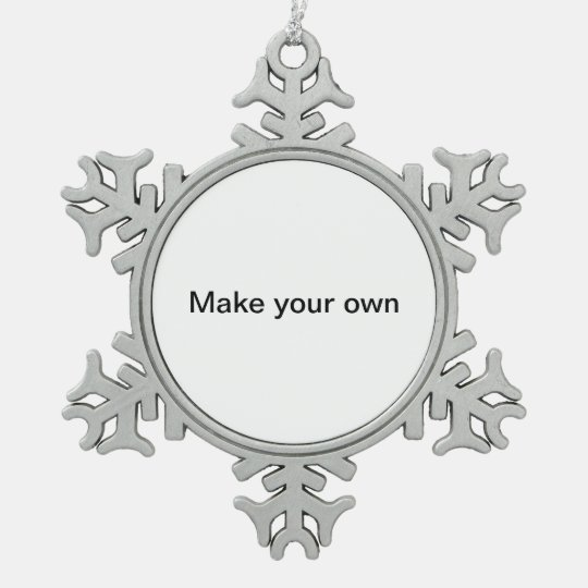 Make your own Pewter Snowflake Ornament