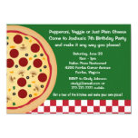 Make Your Own Pizza Kids Birthday Party 11 Cm X 16 Cm Invitation Card