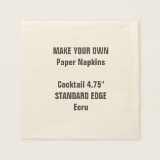Make Your Own Plain Edge Cocktail Paper Napkins