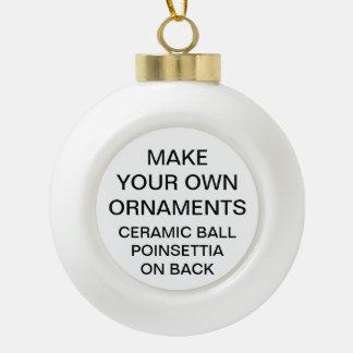 Make Your Own POINSETTIA Ball Christmas Ornament