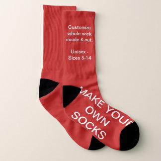 Make Your Own RED Custom Socks 1