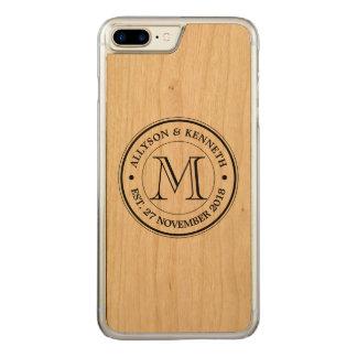 Make Your Own Retro Logo Typography Monogram Carved iPhone 8 Plus/7 Plus Case