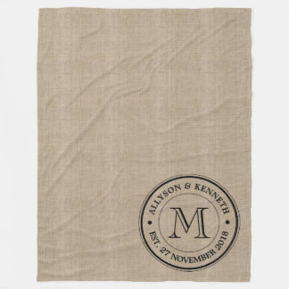 Make Your Own Retro Logo Typography Monogram Fleece Blanket