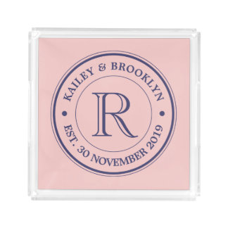 Make Your Own Rose Quartz Pink Logo Monogram