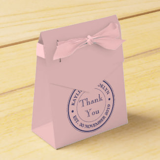 Make Your Own Rose Quartz Pink Logo Monogram Favour Boxes