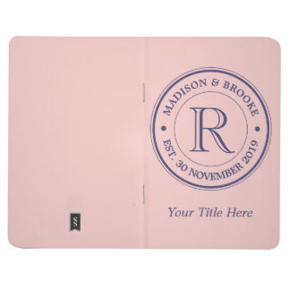 Make Your Own Rose Quartz Pink Logo Monogram Journal