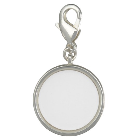 Make Your Own Round Sterling Silver Plated Charm
