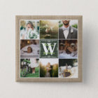 Make Your Own Rustic Wedding Instagram Collage 15 Cm Square Badge