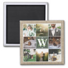 Make Your Own Rustic Wedding Instagram Collage Magnet