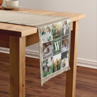 Make Your Own Rustic Wedding Instagram Collage Short Table Runner