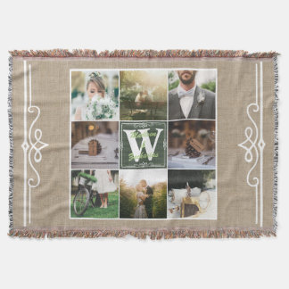 Make Your Own Rustic Wedding Instagram Collage Throw Blanket
