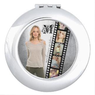 Make Your Own Senior Portrait Retro Film Negative Makeup Mirrors