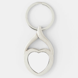 Make Your Own Silver Color Twisted Heart Key Chain Silver-Colored Twisted Heart Key Ring
