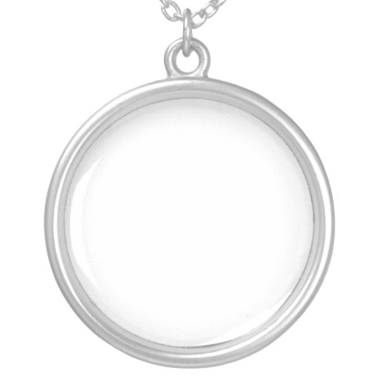 Large Silver Plated Round Necklace