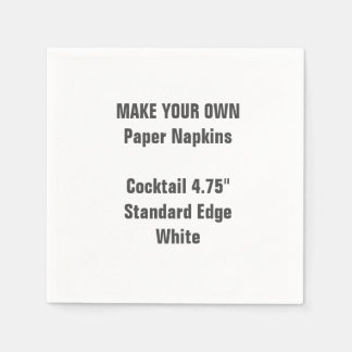 Make Your Own Small WHITE Cocktail Paper Napkins