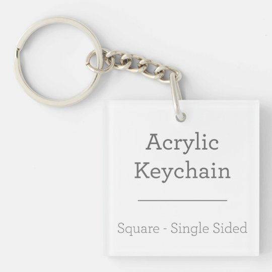 Square (single-sided) Keychain