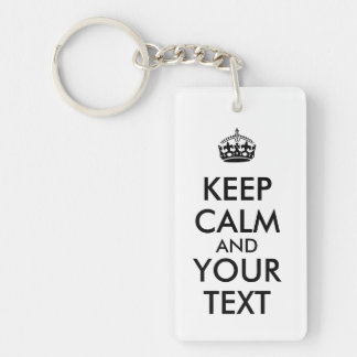 Make Your Own Text Keep Calm Keychains Template
