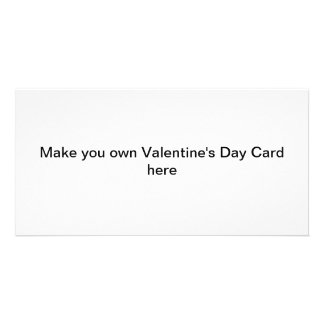 Make your own Valentine's Day Cards Personalised Photo Card