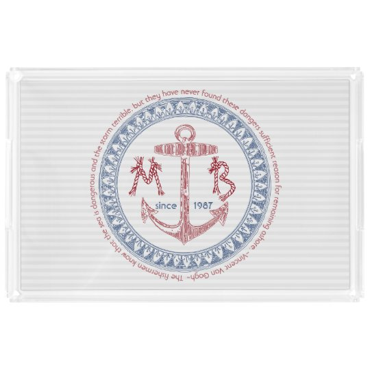 Make Your Own Vintage Anchor Nautical Monogram Acrylic