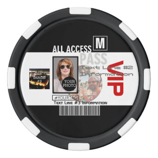 Make Your Own VIP Pass 8 ways to Personalize Poker Chips