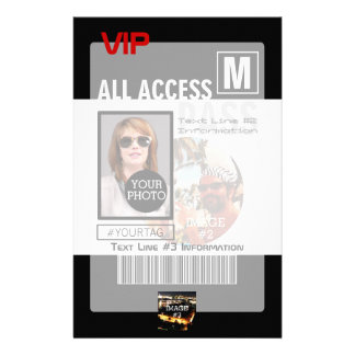 Make Your Own VIP Pass 8 ways to Personalize Stationery Design