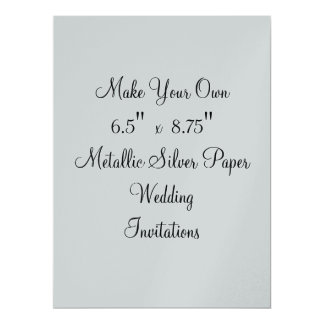 "Make Your Own Wedding Invitations  6.5"" x  8.75"""