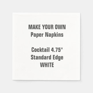 Make Your Own WHITE Cocktail Paper Napkins