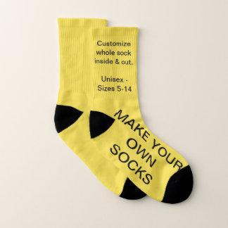 Make Your Own YELLOW Custom Socks 1