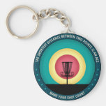 Make Your Shot Count Basic Round Button Key Ring