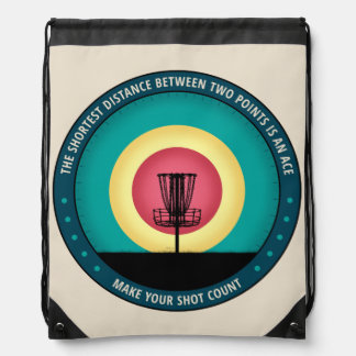 Make Your Shot Count Drawstring Bag