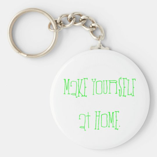 Make yourself at home. basic round button key ring