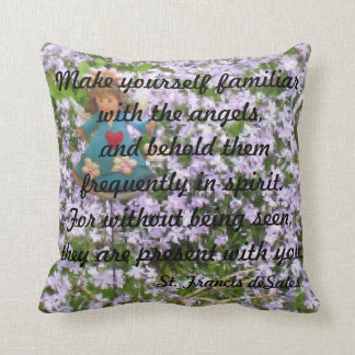 """""""MAKE YOURSELF FAMILIAR WITH THE ANGELS PILLOW"""" CUSHIONS"""