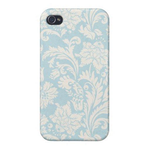 Makena Lei: Blue Floral Damask iPhone 4 Case