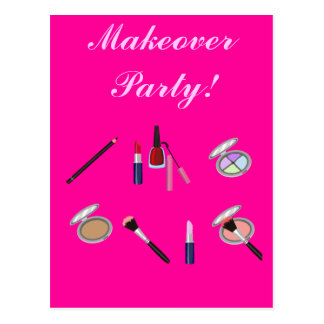 Makeover Party Invitation Card Postcard