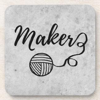 Maker Crafts & Yarn Typography Crafts Coaster