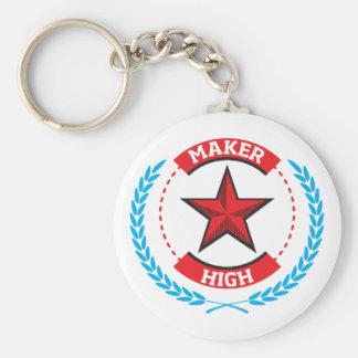 Maker High Basic Round Button Key Ring